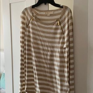 Michael Kors Striped Sweater Top